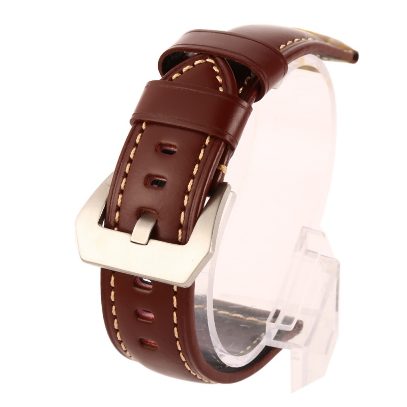 Women Genuine Leather Watchbands Men Watch Band Strap For Panerai Belt Stainless Steel Buckle цена