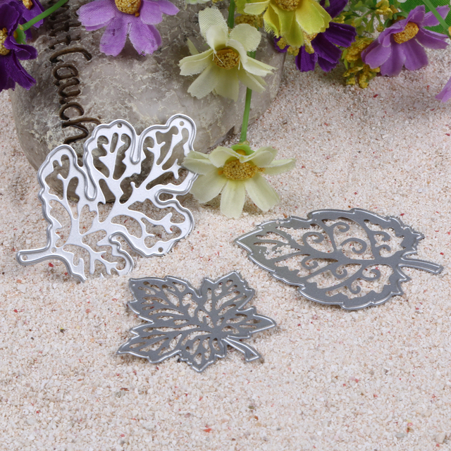 3Pcs Cutting Dies Leaves DesignMetal Cutting Dies For DIY scrapbooking Decorative Embossing Carbon steel Dies Craft