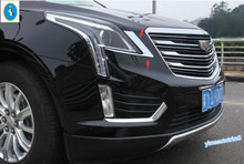For Cadillac XT5 2016 ABS Front Headlight Head Light Lamp Eyelid Exterior Trim 2 PCS / set High Quality ! Accessories