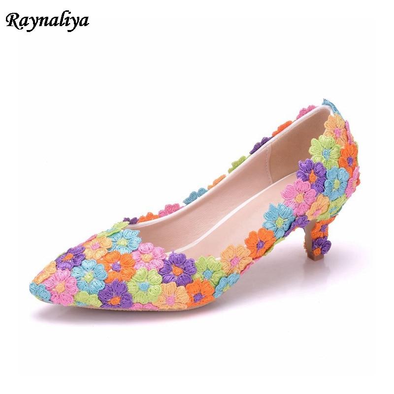 Mariage Chaussures Partie De Summer Femmes Strass Multicolore Dentelle Robe Fleur a0053 Talon Xy Mariée Med Femme 1 New OAwYqFw