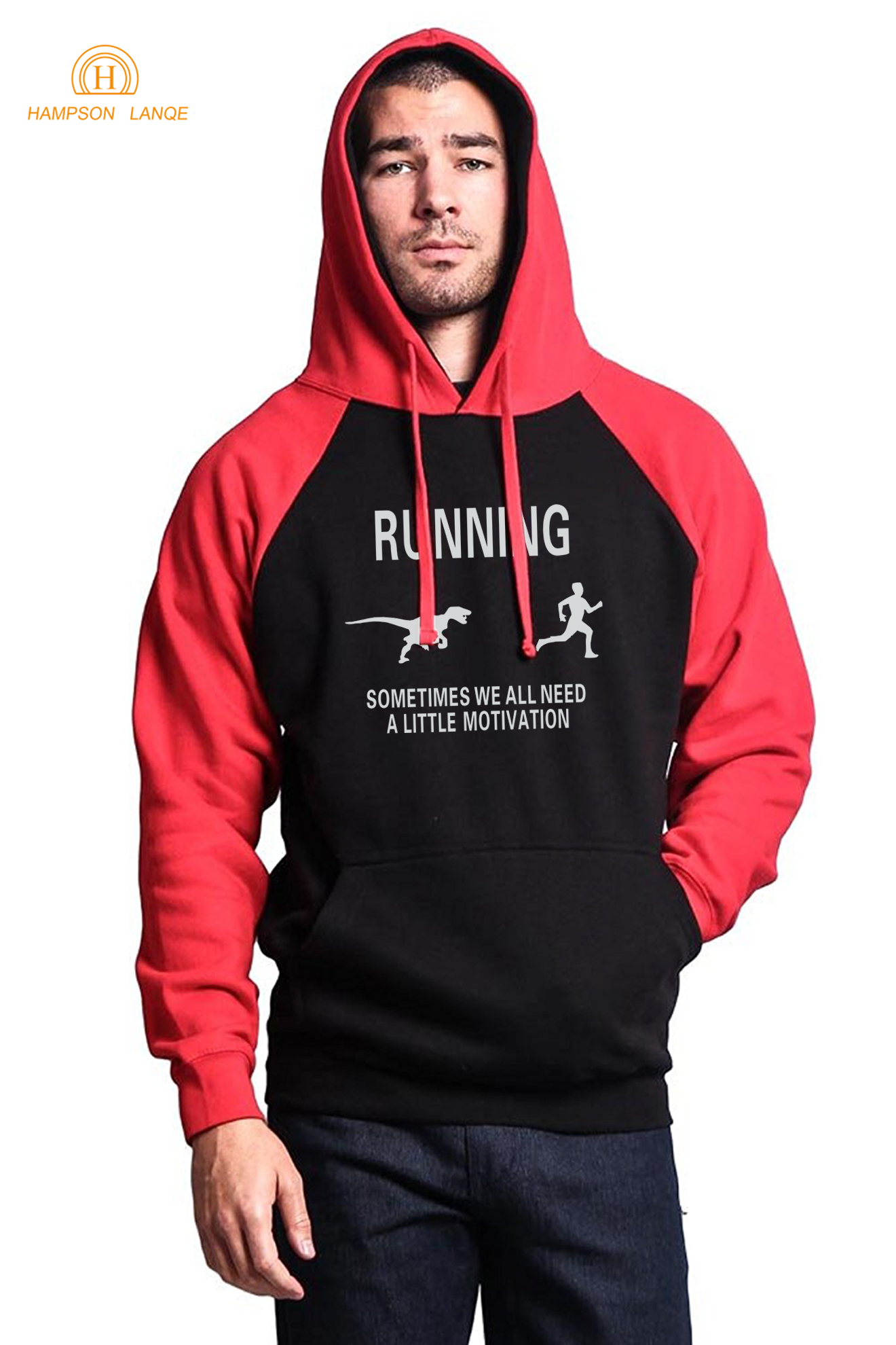 Funny Sportswear Funny Motivation Slim Fit Hoodies Mens 2019 Autumn Winter Fleece Brand Sweatshirt Men Raglan Hooded Tracksuits
