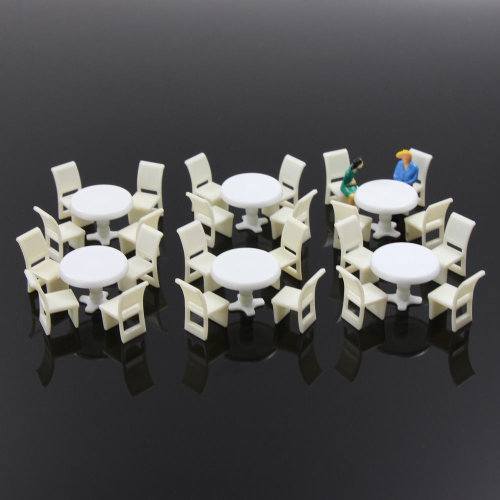 Dining Room Settees Zy01100 6sets White Round Dining Table Chair Settee Railway Model