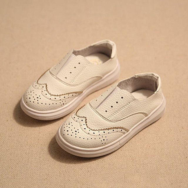 2017 New British Style Genuine Leather Kids Shoes Unisex Hollow Out Slip on Kids Casual Shoes Toddlers Brogue Shoes Size 8-2.5