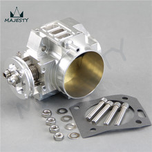 Aluminum 70mm Throttle Body SUIT For  Honda K20 Engine silver