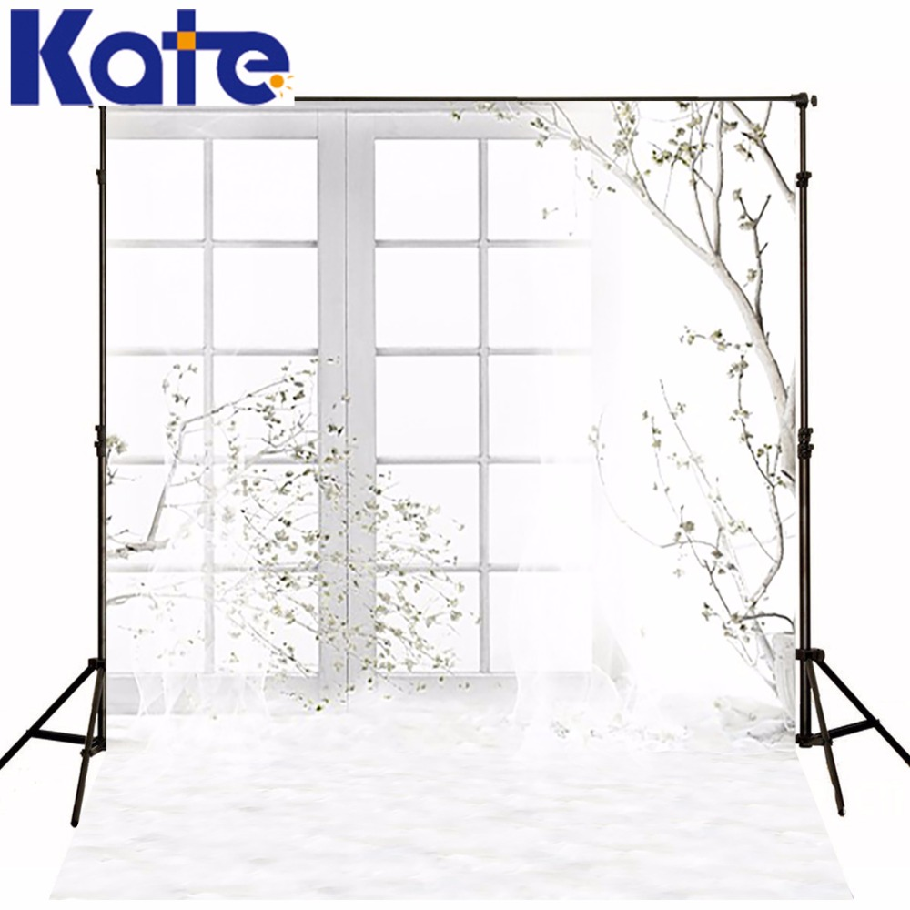 KATE Photography Backdrops Wedding Backdrop White Window Background Branches and Flower Background for Indoor Wedding Photocall сумка kate spade new york wkru2816 kate spade hanna