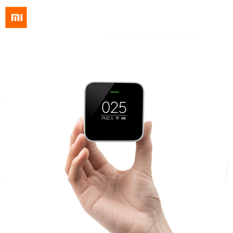 In Stock! Xiaom Mi Air PM2.5 Detector Portable OLED screen Wifi 2.4GHZ Use With Air Purifier Air Quality Monitoring new in stock mi j24 iy