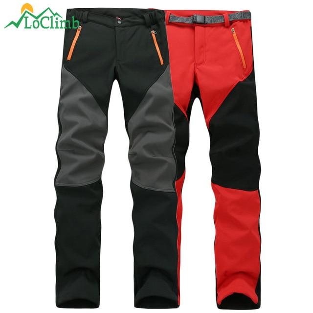 3f63f52f193 LoClimb 2018 Winter Fleece Softshell Pants Men Women Outdoor Trekking  Climbing Sport Trousers Hiking Ski Waterproof Pants