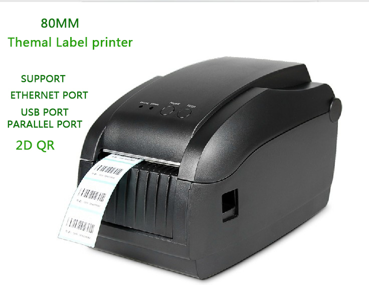 80MM Gprinter thermal barcode printer 3150T can printer sticker label lan interface stripper Support 2D code