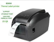 Impresoras De Códigos de barras de la impresora térmica de 80 MM 3150 T puede interfaz lan impresora etiqueta separador Soporte 2D código de varios idiomas