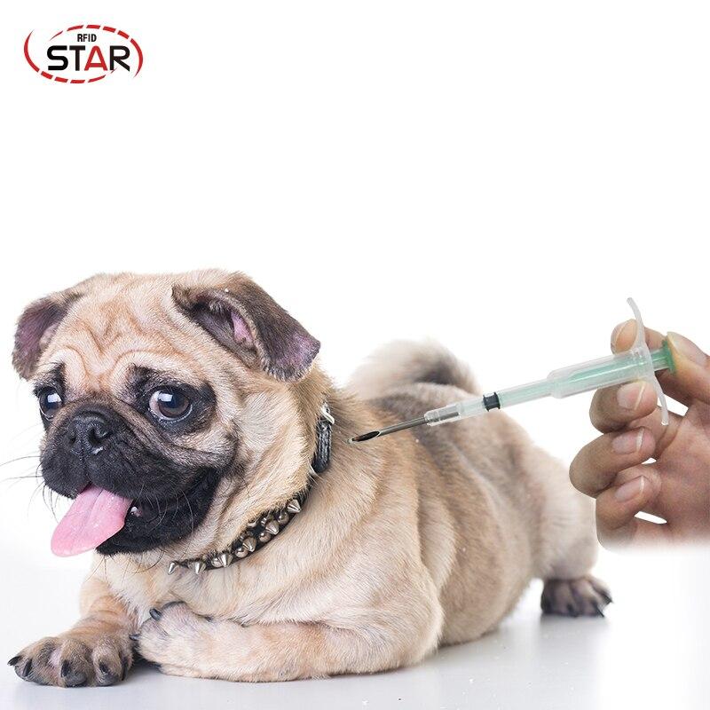60pcs lot animal glass tag Syringe 2 12mm rfid syringe 134 2KHz microchip injector FDX B