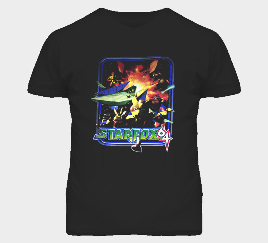 Star Fox N64 Video Game T Shirt Tops Men Tee Shirts 2017 New 100% Cotton Top Quality Design Short Sleeve T-Shirt