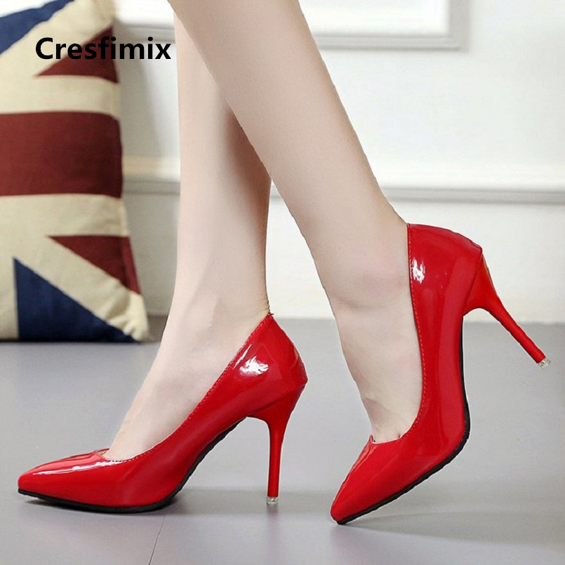 female leisure spring summer slip on pu leather red high heel pumps lady casual street shoes women office high heel shoes e2154 women high quality pu leather waterproof platform shoes lady cute and sexy party slip on pumps female office high heel shoes