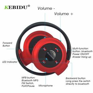 Image 5 - Kebidu TF + FM + MP3 Nekband Elastische Gevouwen Hoofdtelefoon Draadloze Headset Oortelefoon Handsfree Sport Mini Bluetooth 5 Kleuren Beschikbaar