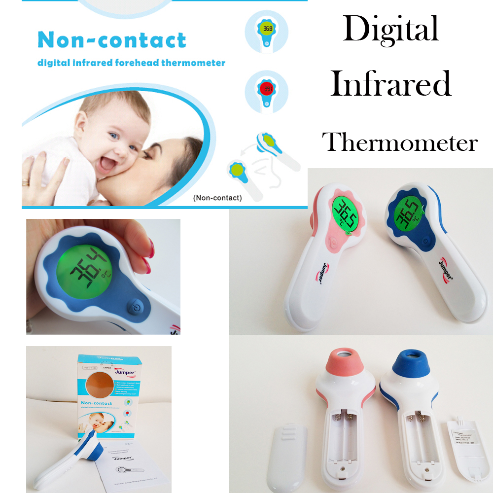Non-contact LCD Digital Infrared Body Surface Forehead Thermometer Temperature Laser Gun Body Temp. and Milk Temp.  цены