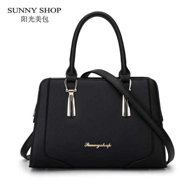 62424f690fe5a مشمس محل الكورية أزياء السيدات حقائب النساء حقيبة يد مصمم حبال عالية الجودة  pu حقائب جلدية