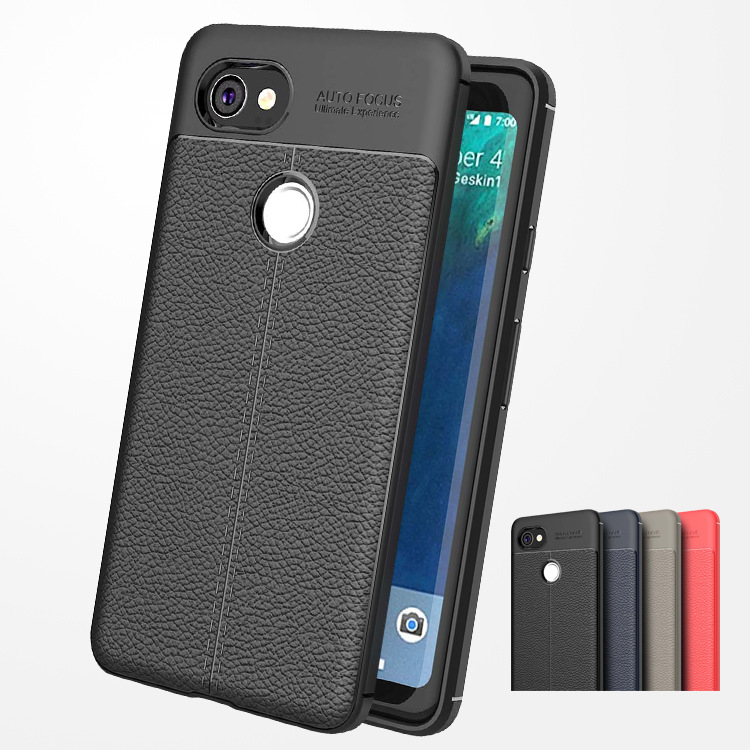 Carbon Fiber TPU Silicone Leather Case For Google Pixel 2 2XL 3 3XL Cases Soft Full Cover For Google Pixel 2 3 XL Fundas Capa