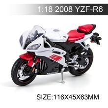 YMH Motorcykelmodeller 2008 YZF-R6 2006 FJR 1300 YZ450F Collection 1:18 skala Alloy motorcykel modell motorcykel modell