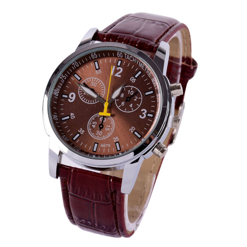 Analog Men Women Ladies Sports Leather Strap Quartz Military Mens Wrist Watch