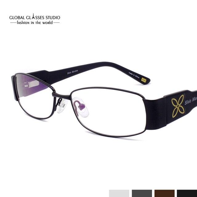 Full Rim Metal Optical Frame Ladies Decorative Eyewear Frame Glasses Computer Glasses Precription Eyeglass Frame Oculos  SM4021