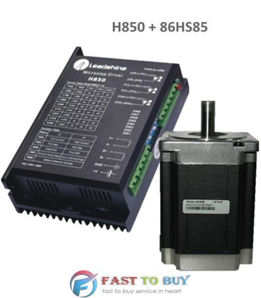 2-phase Stepper Set (Drive + Motor) H850 + 86HS85 8.5N.m New rc2604h stepper motor drive 578 586