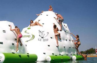 water  iceberg  inflatable toy size  4*4*1.8 M water game playing in summer water park used inflatable water spoon outdoor game water ball summer water spray beach ball lawn playing ball children s toy ball