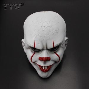 Image 1 - Clown Mask Stephen KingS It Mask Penny Wise Horror Joker Masker Scary Full Face Masks Mascaras Halloween Cosplay Costume Props