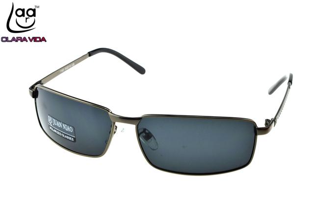 = = CLARAVIDA 2017 diseñador Masculino Polarización polarizado TAC Ha Mejorado cuadrado gris lentes rectangulares conducción pesca gafas de sol