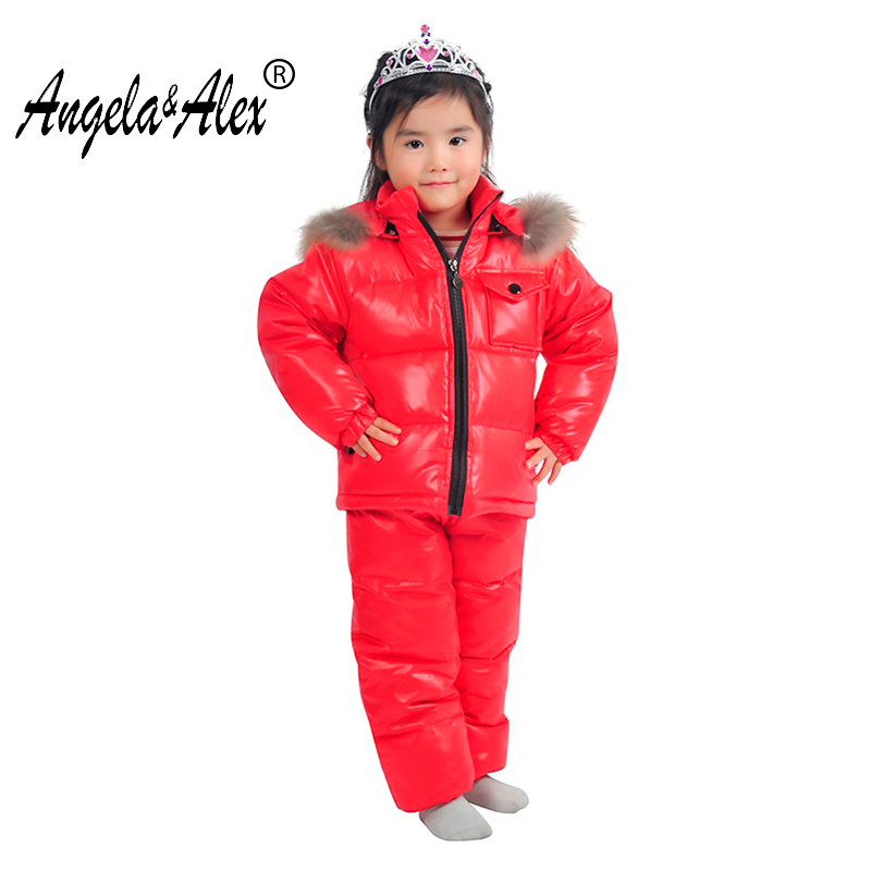 Angela&Alex Winter Jacket Parka for Children -30 Degree Winter Kids Clothes Sets Warm Duck Down Coat Snowwear High Quality winter down jacket boys coat for baby girls clothes children warm outwear cute solid color high quality clothing hooded snowwear