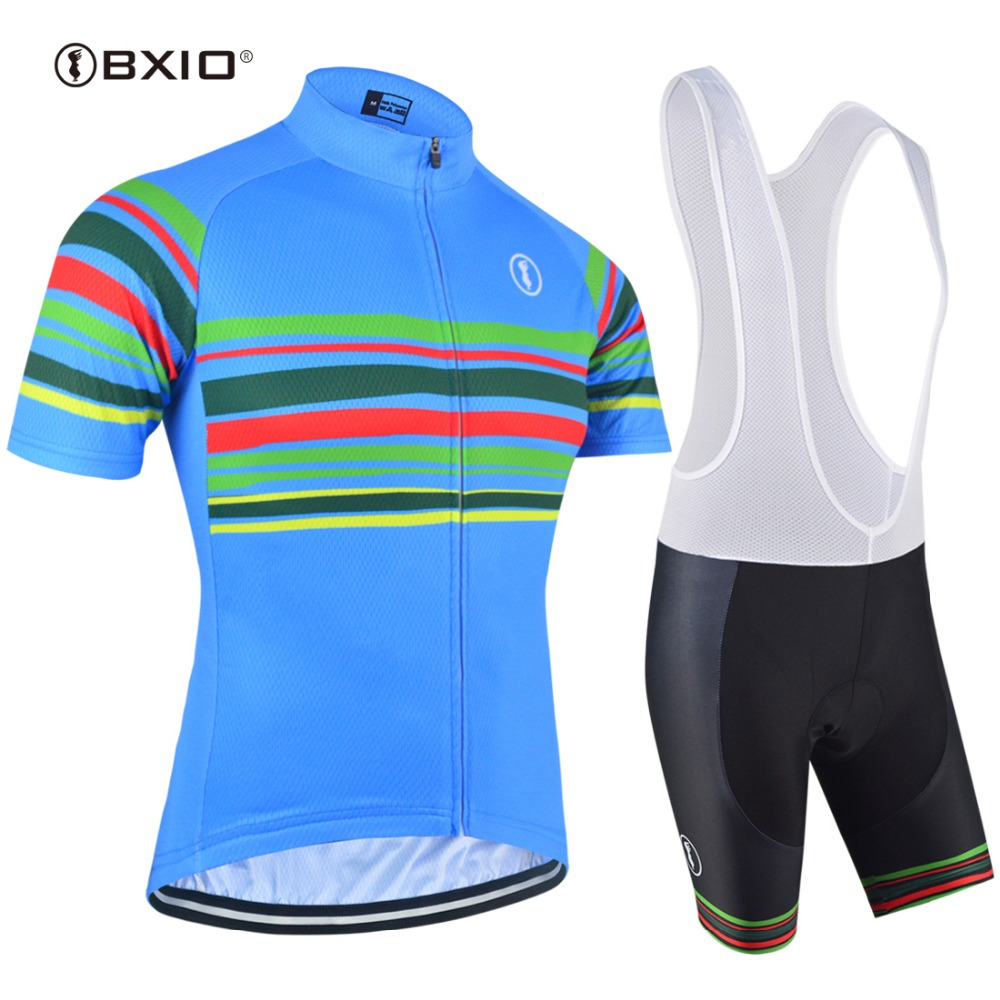 BXIO Cycling Jersey Set Short Sleeve New Bike Bicycle Sportswear Ropa Ciclismo Outdoor Breathable Pro Team Cycling Clothing 151 2017 new pro team cycling jerseys bike clothing ropa ciclismo breathable short sleeve 100 page 6