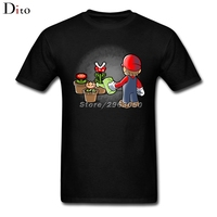 Super Mario Bros Gardener Tees Shirt Men Boy Summer Short Sleeve Thanksgiving Day Custom Plus Size