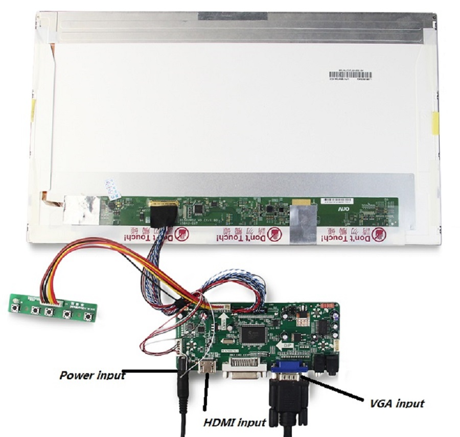 Image 3 - M.NT68676 HDMI DVI VGA LED LCD Controller board Kit DIY for LP156WH4(TL)(A1)/(TL)(B1) 1366X768 panel monitor-in Laptop Repair Components from Computer & Office on