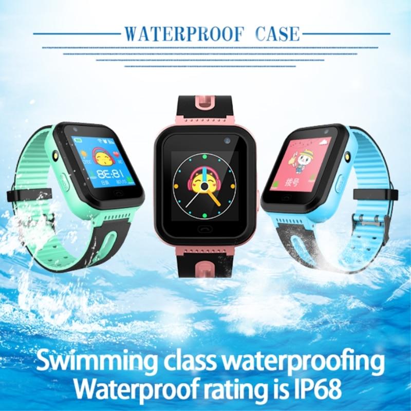 Kids Watch GPS Tracker Smart Watches Waterproof IP68  SOS Calling  LBS GPRS Location Camera Flashlight Android IOS  Clock S7