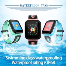 купить Kids watch GPS tracker smart watches waterproof IP68  SOS calling  LBS GPRS location Camera flashlight Android IOS  clock S7 дешево