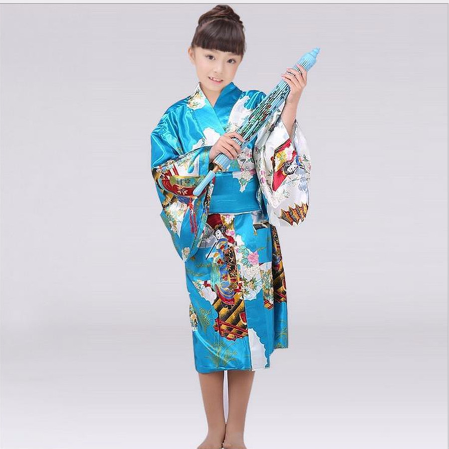 Novelty Japanese Baby Girl Kimono With Obi Children Kid