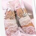 2014 Новых Женщин Кожа Подвязки розовый Любовь Пуля HARAJUKU двубортный цельный БЕСПЛАТНАЯ ДОСТАВКА