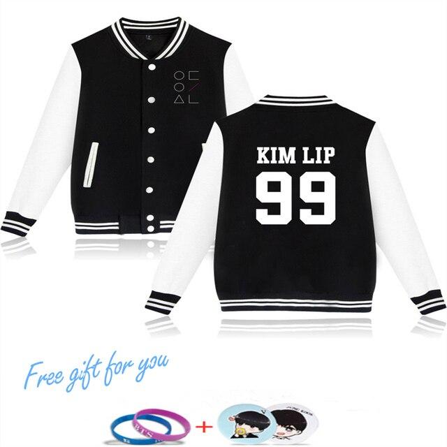 Good Style Kpop 2018 Hip Hop Loona Jacket Hoodies Fashion Clothing Harajuku Baseball Jacket Men/Women Baseball Uniform Plus Size