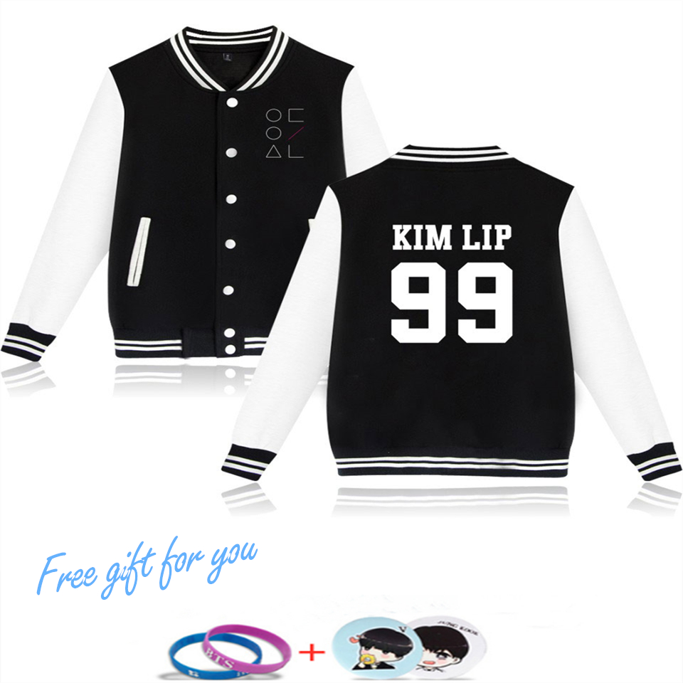 LUCKYFRIDAYF Kpop Hip Hop Loona Jacket Hoodies Fashion Clothing Harajuku Baseball Jacket Men Women Baseball Uniform Plus Size in Jackets from Men 39 s Clothing