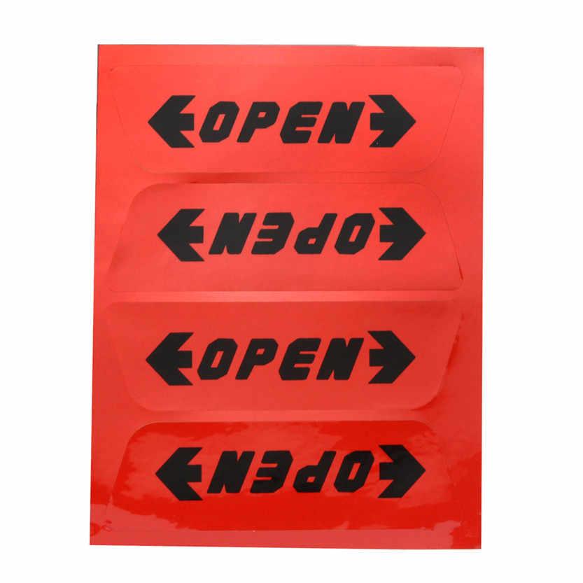 1 комплект наклейки для авто Светоотражающие двери автомобиля Открытие Предупреждение советы безопасности наклейки Z920 # Прямая поставка td130
