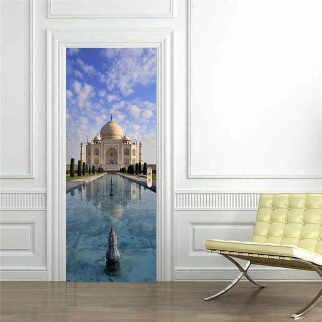 Drop Shipping Home Decor 3D Sticker Art Decor Vinyl Removable Mural Poster  Scene Window Door Levert