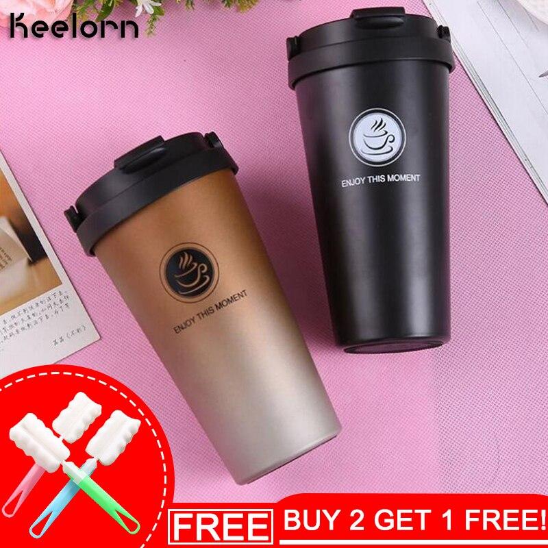 Keelorn 500 ml Kaffee Thermos Tasse Thermocup Edelstahl vakuum flaschen Thermoskannen Versiegelt Thermo becher für Auto Mein Wasser Flasche