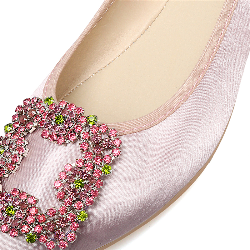 Bout Plus 42 Mode Strass Mocassins Femmes Zapatos Plat Henscarying La 41 Cristal Chaussures gray pink Pointu Taille Green Appartements black Satin Ballet Mujer v4CwIxqI