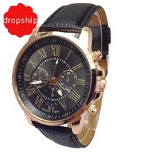 Nowatorska konstrukcja Nowa luksusowa moda Sztuczna skóra mężczyźni Blue ray Glass kwarcowy analogowe zegarki casual cool zegarek marki mężczyźni zegarki tanie tanio Aimecor 20mm Wstrząsy Quartz Skórzane Okrągłe No waterproof Szklane Papieru 40mm Fashion Casual VOB20170118 Klamra
