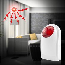цена на Wireless Flash Strobe Outdoor/Indoor Siren Red Light 125dB 433MHz for our GSM PSTN alarm system