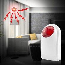 Wireless Flash Strobe Outdoor/Indoor Siren Red Light 125dB 433MHz for our GSM PSTN alarm system