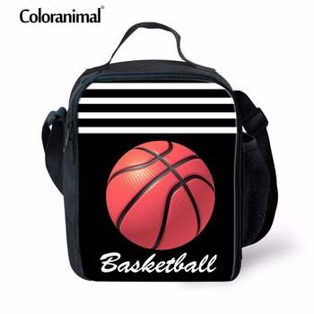 Coloranimal Cross Body Lunch Bag Children Youth Girl Boy School Messenger Thermal Lunch Case Basket Ball 3D Pattern Reusable Bag фото