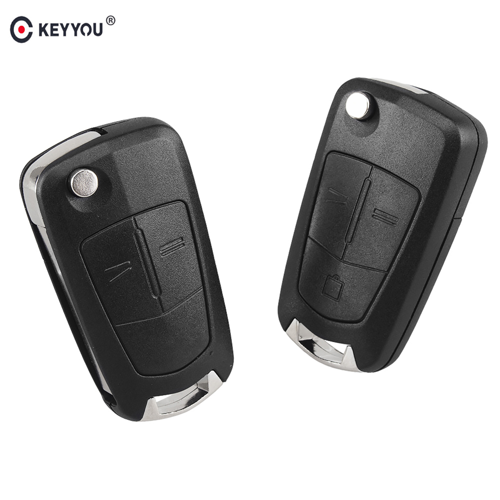 KEYYOU Replacement Blank Flip Key Shell For Opel Astra H Corsa D Vectra C Zafira 2 3 Buttons Remote Car Key Case Uncut Blade