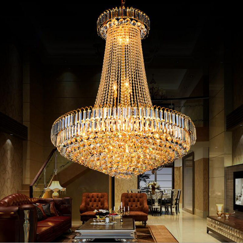 Penthouse Living Room Crystal Chandelier Hotel Lobby