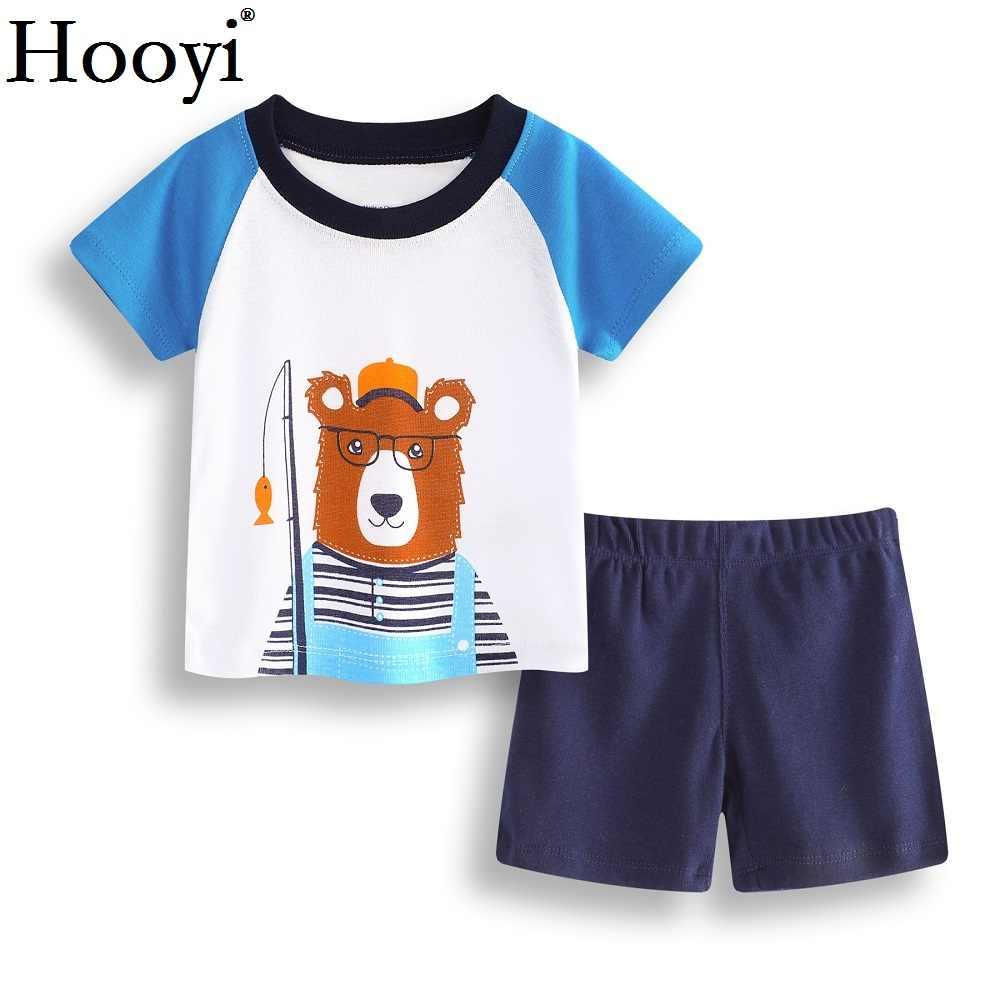 LZH Baby Boys Summer Clothes Sets Cartoon Whale Outfits Top+Short Pants 2Pcs