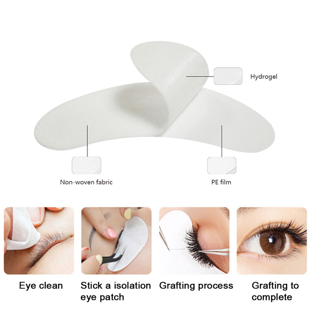 30/50/100 Pairs Eye Patches for Eyelash Extension,Under Eye Gel Pads Eyelash Extension Lint Free Paper Patches 4