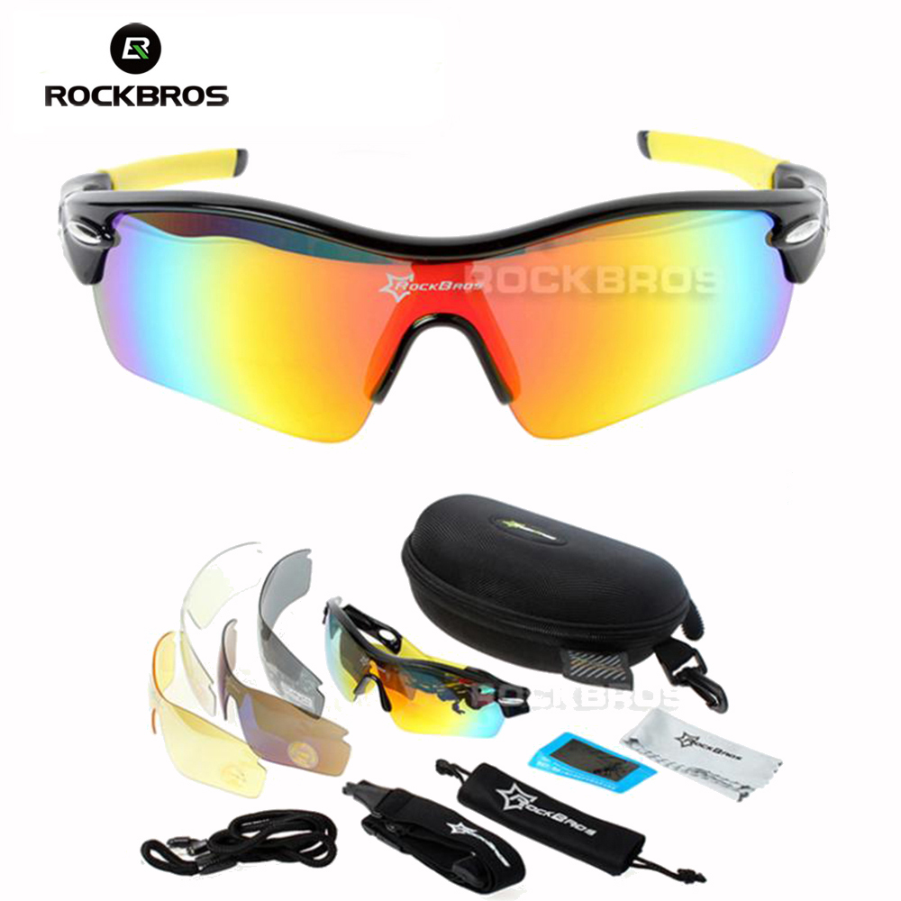 Hot! New RockBros Polarized 5 Lens  Sun Glasses Outdoor Sports Bicycle Glasses Sunglasses TR90 Goggles Eyewear|bicycle glasses|rockbros polarized|glasses outdoor - title=